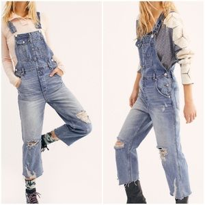 NEW Free People Baggy Boyfriend Overalls